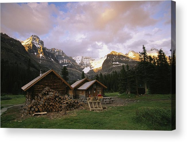 North America Acrylic Print featuring the photograph The Elizabeth Parker Hut, A Log Cabin by Michael Melford
