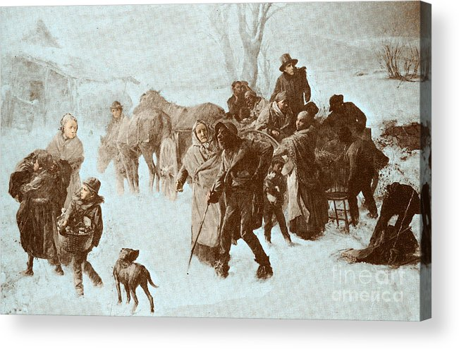 America Acrylic Print featuring the photograph The Underground Railroad by Photo Researchers