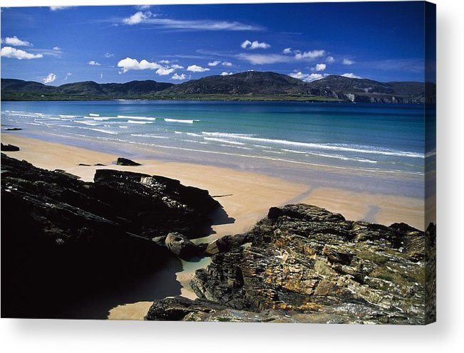 Bay Acrylic Print featuring the photograph Tramore Strand And Loughros Mor Bay by Gareth McCormack