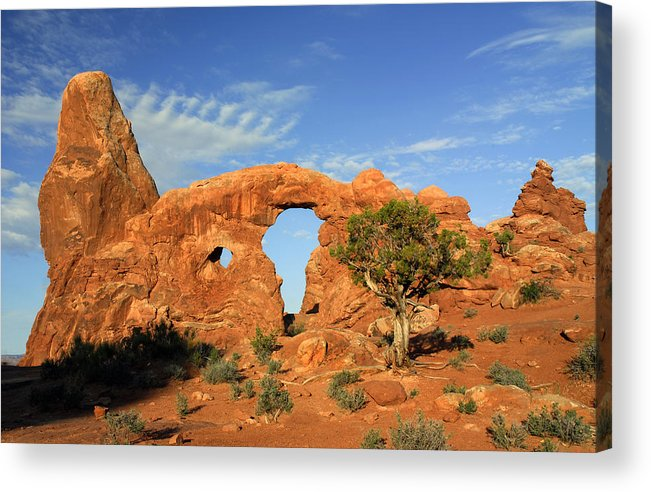 Turret Arch Acrylic Print featuring the photograph Turret Arch by Dave Mills