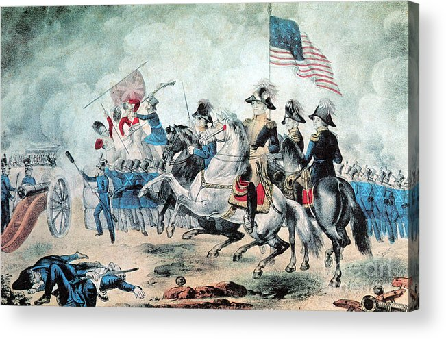 Andrew Jackson Acrylic Print featuring the photograph War Of 1812 Battle Of New Orleans 1815 by Photo Researchers