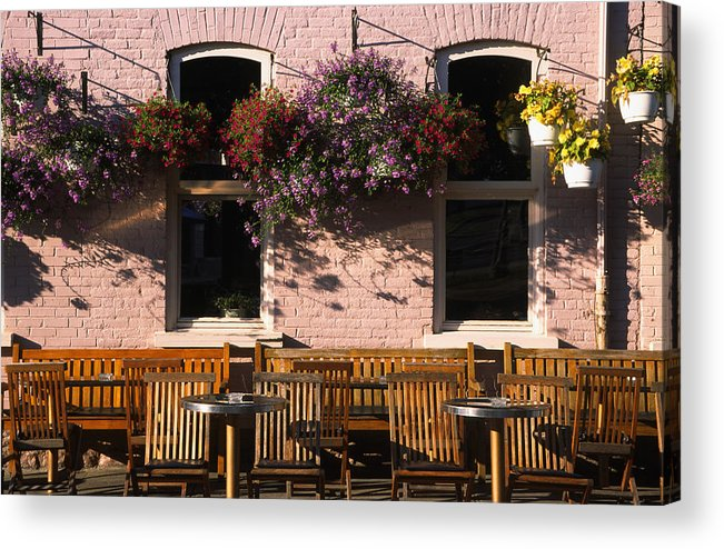 Quebec Acrylic Print featuring the photograph Pink Hotel Quebec City by Art Ferrier