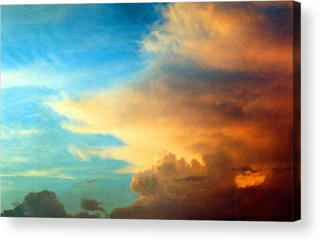 Cloud Acrylic Print featuring the photograph 072006-14e by Mike Davis