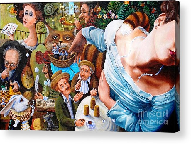 Colorful Acrylic Print featuring the painting Alice Wake Up by Igor Postash