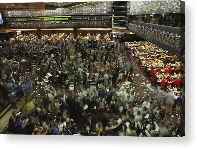 North America Acrylic Print featuring the photograph An Elevated View Of Traders by Michael S. Lewis