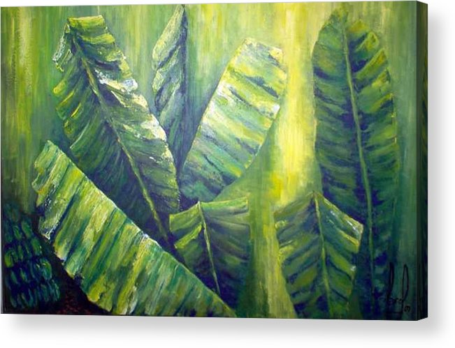 Bananas Acrylic Print featuring the painting Bananas by Carol P Kingsley