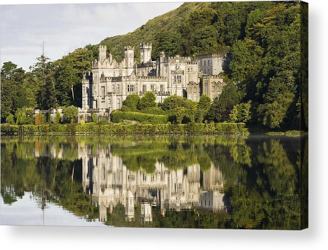 Abbey Acrylic Print featuring the photograph Kylemore Abbey, County Galway, Ireland by Peter McCabe