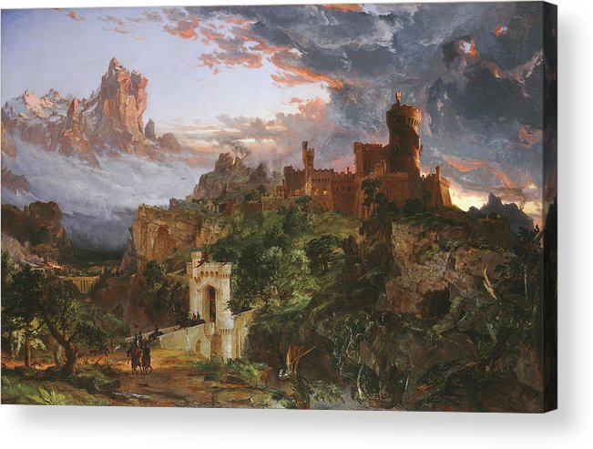 The Spirit Of War Acrylic Print featuring the painting The Spirit Of War by Jasper Francis Cropsey