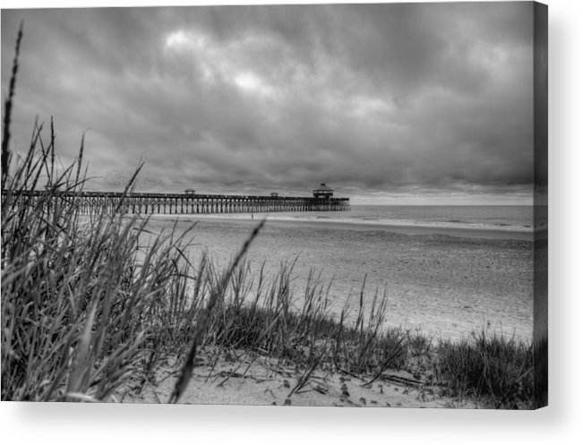 Folly Beach Acrylic Print featuring the photograph Folly Beach Pier by Dustin K Ryan
