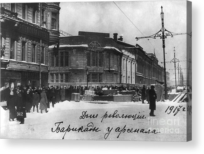1917 Acrylic Print featuring the photograph Russian Revolution, 1917 by Granger