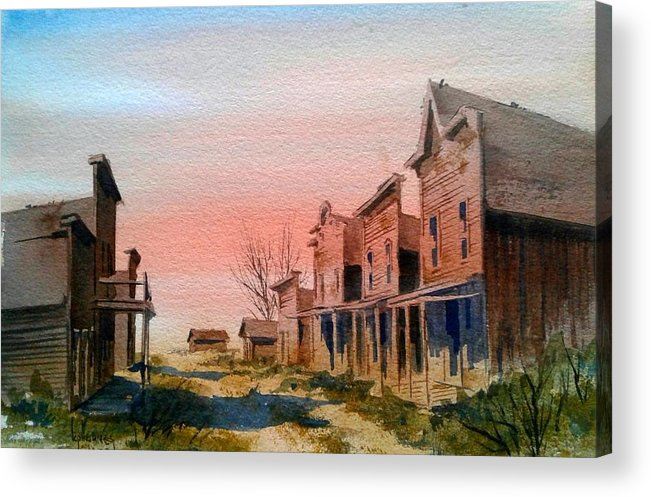 Llandscape Acrylic Print featuring the painting Ghost Town by Kevin Heaney