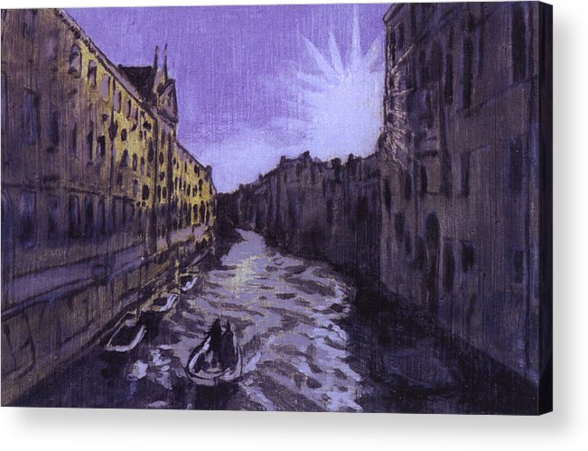 Landscape Acrylic Print featuring the painting After Rio Dei Mendicanti Looking South by Hyper - Canaletto