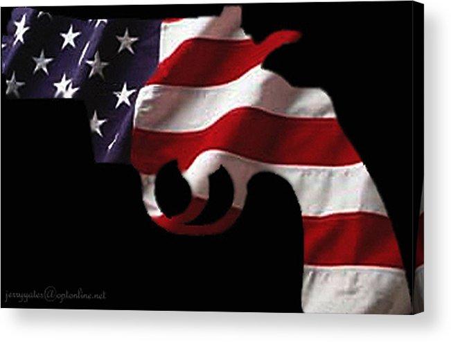 America Acrylic Print featuring the photograph American Gun by Gerard Yates