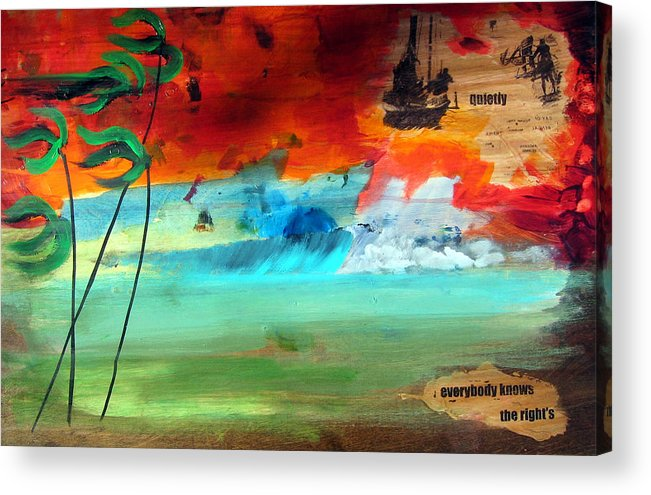 Landscape Acrylic Print featuring the painting Andaman Islands by Nathan Paul Gibbs