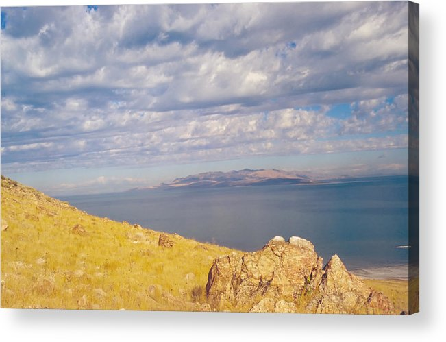 Great Salt Lake Acrylic Print featuring the photograph Antelope Island 3 by Steve Ohlsen