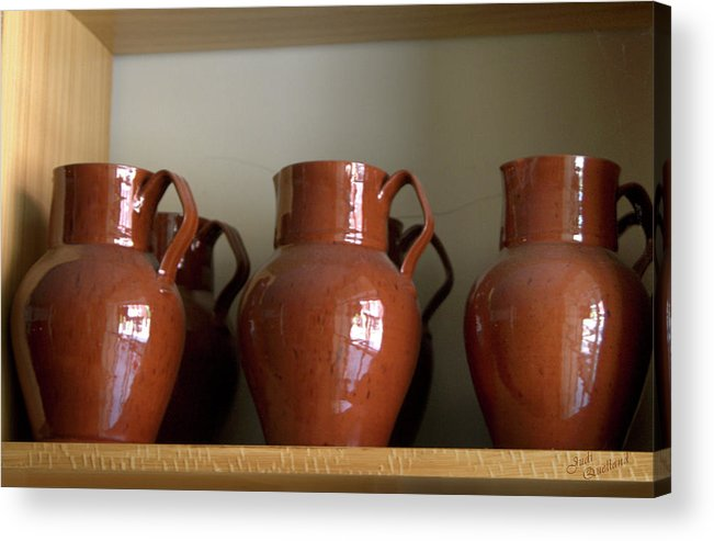 Antique Pitchers Acrylic Print featuring the photograph Antique Pitchers by Judi Quelland