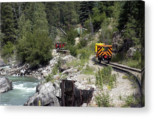 Dsngrr Acrylic Print featuring the photograph Aproaching The Tank by Michael Heaton