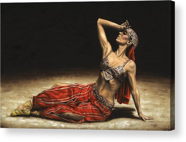 Arabian Acrylic Print featuring the painting Arabian Coffee Awakes by Richard Young