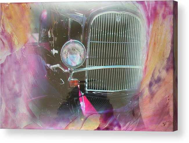 Acrylic Print featuring the mixed media Auto Series 1 by John Vandebrooke
