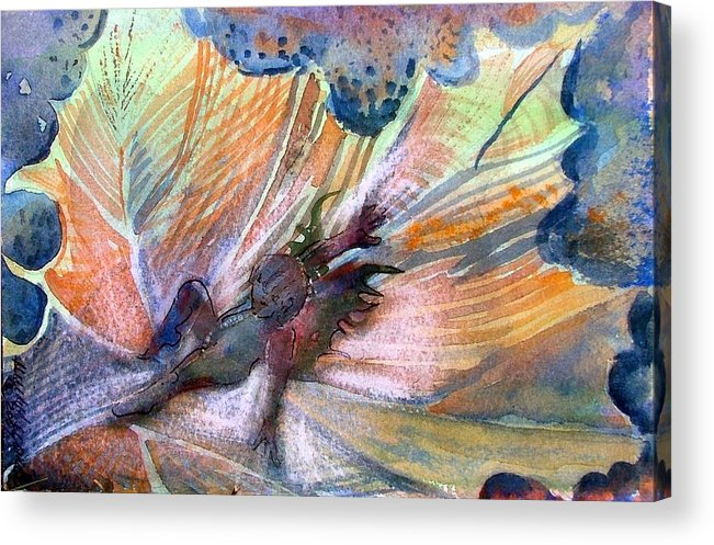 Fairy Acrylic Print featuring the painting Autumn Fairy by Mindy Newman