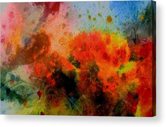 Sky Acrylic Print featuring the painting Autumn Garden by Anne Duke