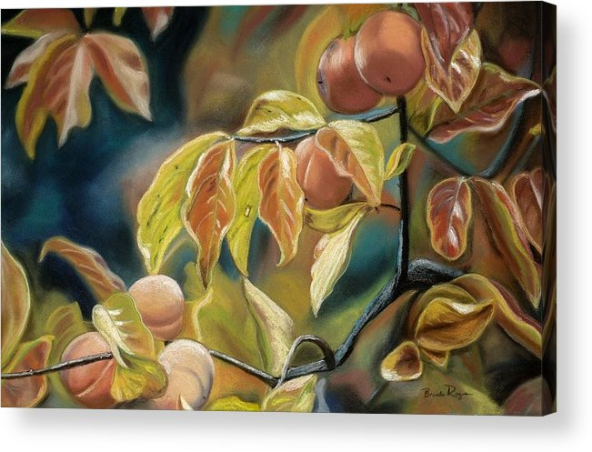 Autumn Acrylic Print featuring the painting Autumn Peaches by Brenda Williams