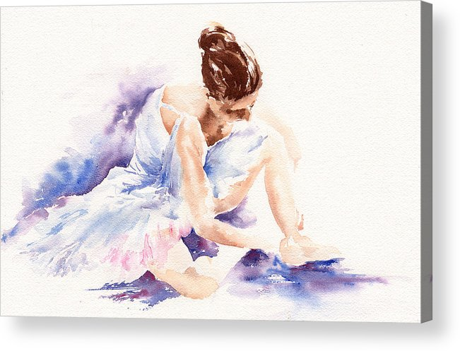Ballerina Acrylic Print featuring the painting Ballerina by Stephie Butler