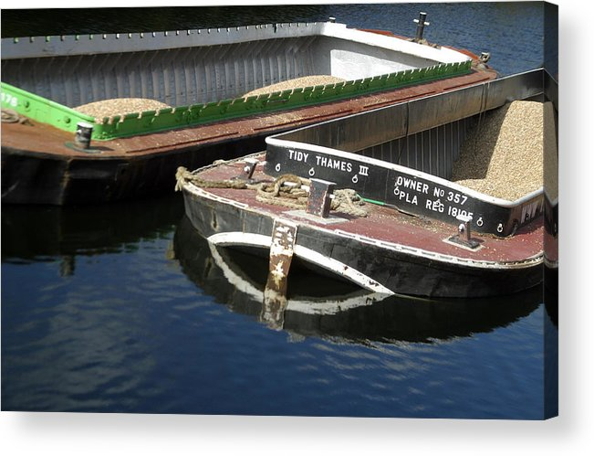 Jez C Self Acrylic Print featuring the photograph Barge Love by Jez C Self