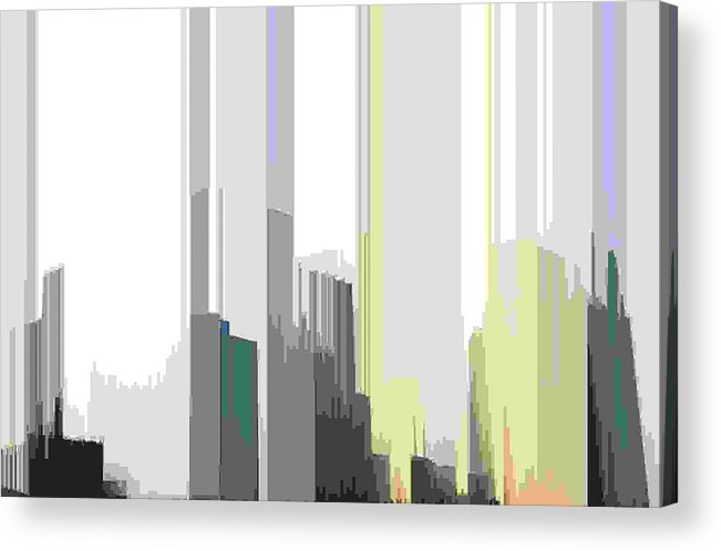 Abstract Acrylic Print featuring the digital art Beams Sig by Lyle Crump