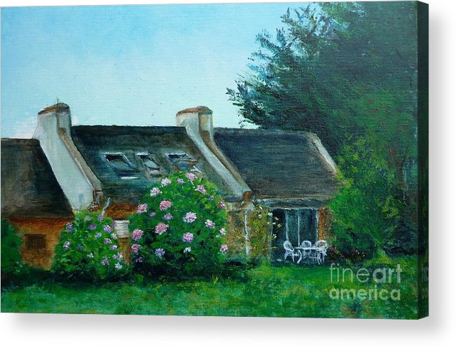 Bretagne Acrylic Print featuring the painting Bel-ile-en-mer by Lizzy Forrester