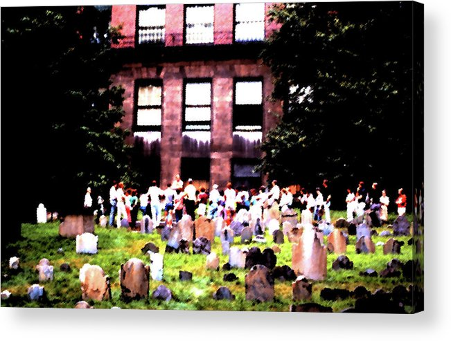 Boston Acrylic Print featuring the photograph Boston Family Gathering by Edward Joseph Anthony