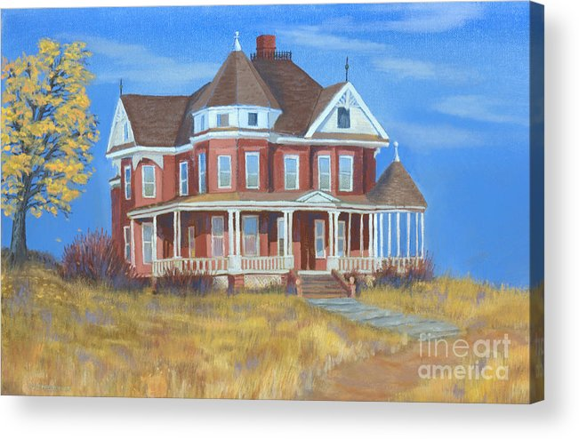 Boulder Acrylic Print featuring the painting Boulder Victorian by Jerry McElroy