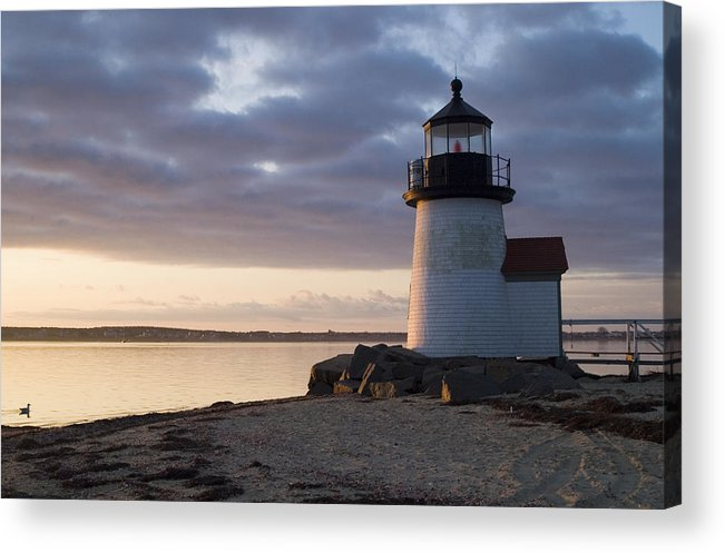 Nantucket Acrylic Print featuring the photograph Brant Point Light Number 1 Nantucket by Henry Krauzyk