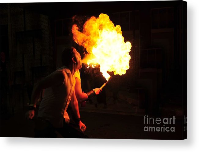 Fire Acrylic Print featuring the photograph Breath Of Fire by David Lee Thompson