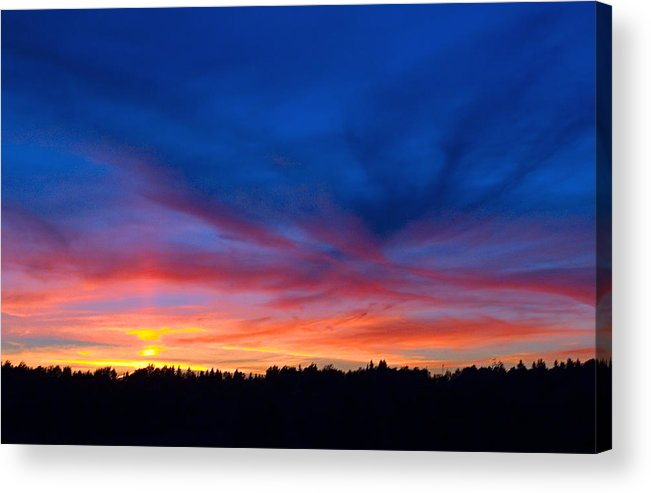 Sunset Acrylic Print featuring the photograph Bright Sunset by Antonio Ballesteros Mijailov