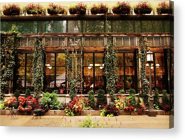 Bryant Park Acrylic Print featuring the photograph Bryant Park Grill by Jessica Jenney