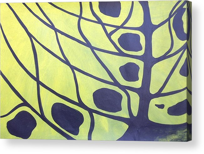 Abstract Tree Butterfly Tiger Swallowtail Landscape Acrylic Print featuring the painting Butterfly Tree 3 by Sally Van Driest