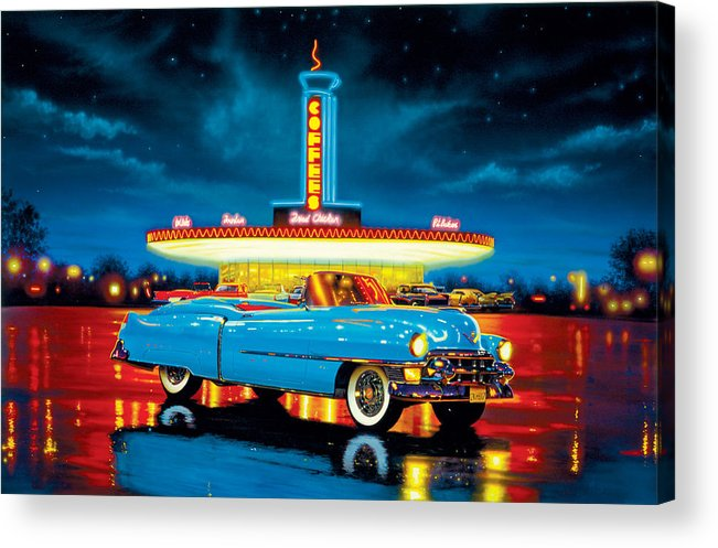 Car Acrylic Print featuring the photograph Cadillac Diner by MGL Studio - Chris Hiett