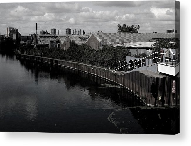 Jez C Self Acrylic Print featuring the photograph Canal Walk Not On Your Own by Jez C Self
