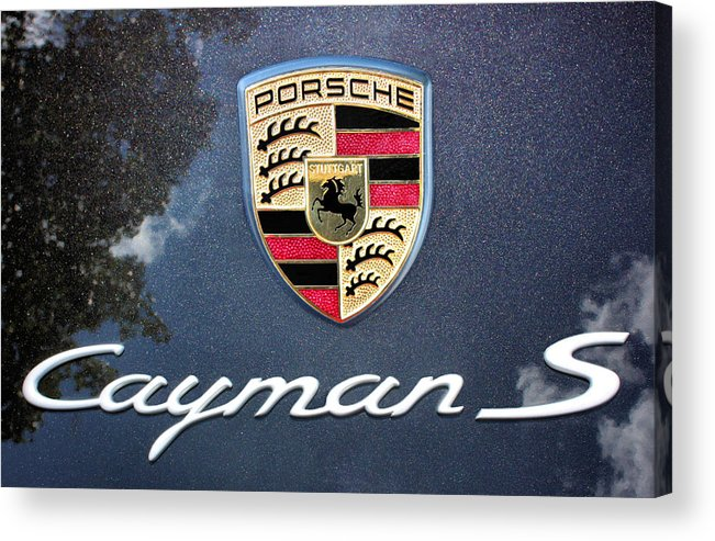 Porsche Acrylic Print featuring the photograph Cayman S by Kristin Elmquist