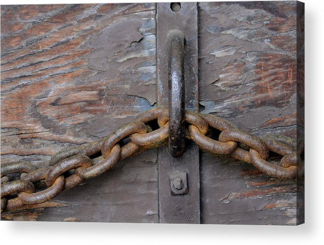 Chain Acrylic Print featuring the photograph Chain And Grain by Dan Holm