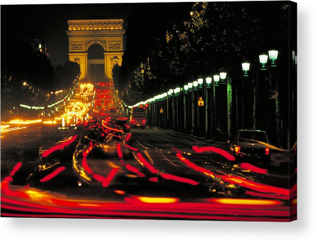 France Acrylic Print featuring the photograph Champs Elysee In Paris by Carl Purcell