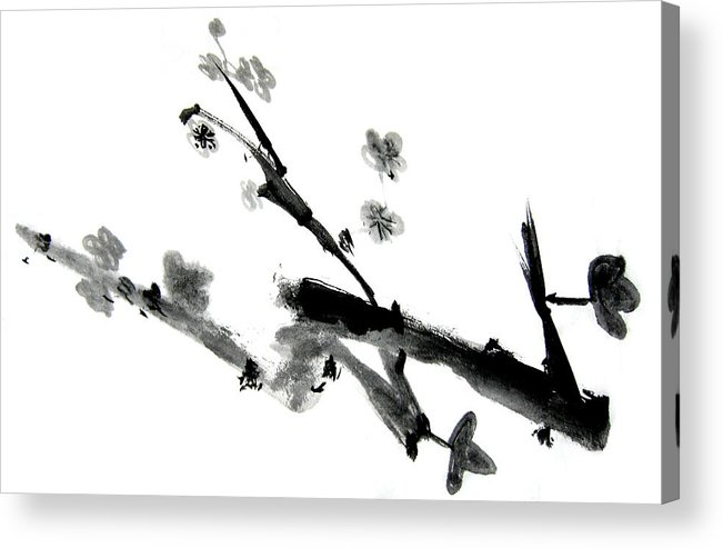 Chinese Brush Acrylic Print featuring the painting Chinese Brush Lv by Ed Deloria