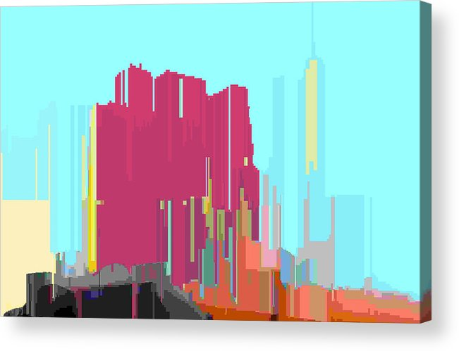 Abstract Acrylic Print featuring the digital art City Color 3 by Lyle Crump