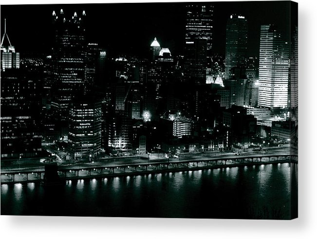 Landscape Acrylic Print featuring the photograph City Lights by Chaz McDowell
