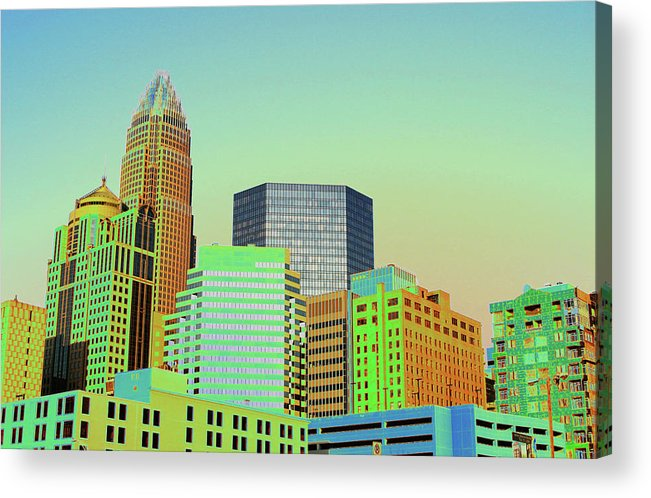 Charlotte Acrylic Print featuring the photograph City Of Colors by Karol Livote