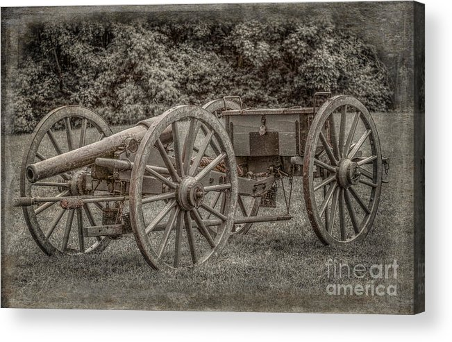 Civil War Cannon And Limber Acrylic Print featuring the digital art Civil War Cannon And Limber by Randy Steele