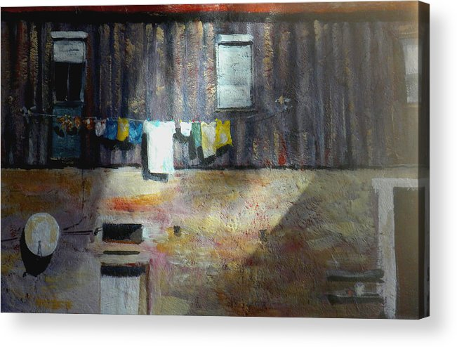 Portugal Acrylic Print featuring the painting Clashing Cultures by Paula Strother