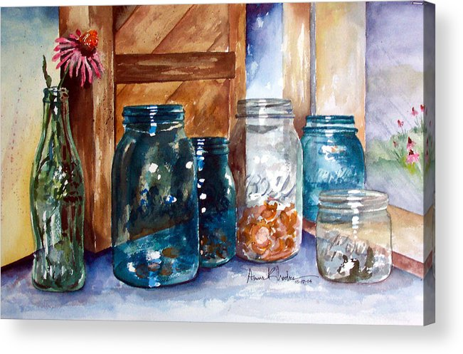 Country Acrylic Print featuring the painting Coin Catchers by Anne Rhodes