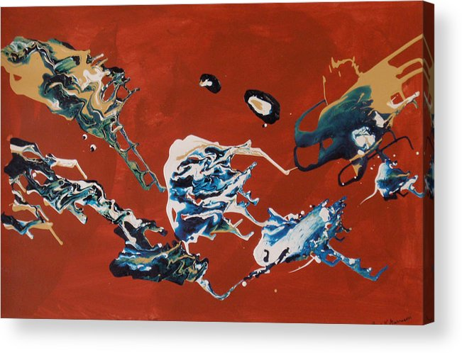 Rhythmic Motion Acrylic Print featuring the painting Dancing Spirits by Gene Garrison